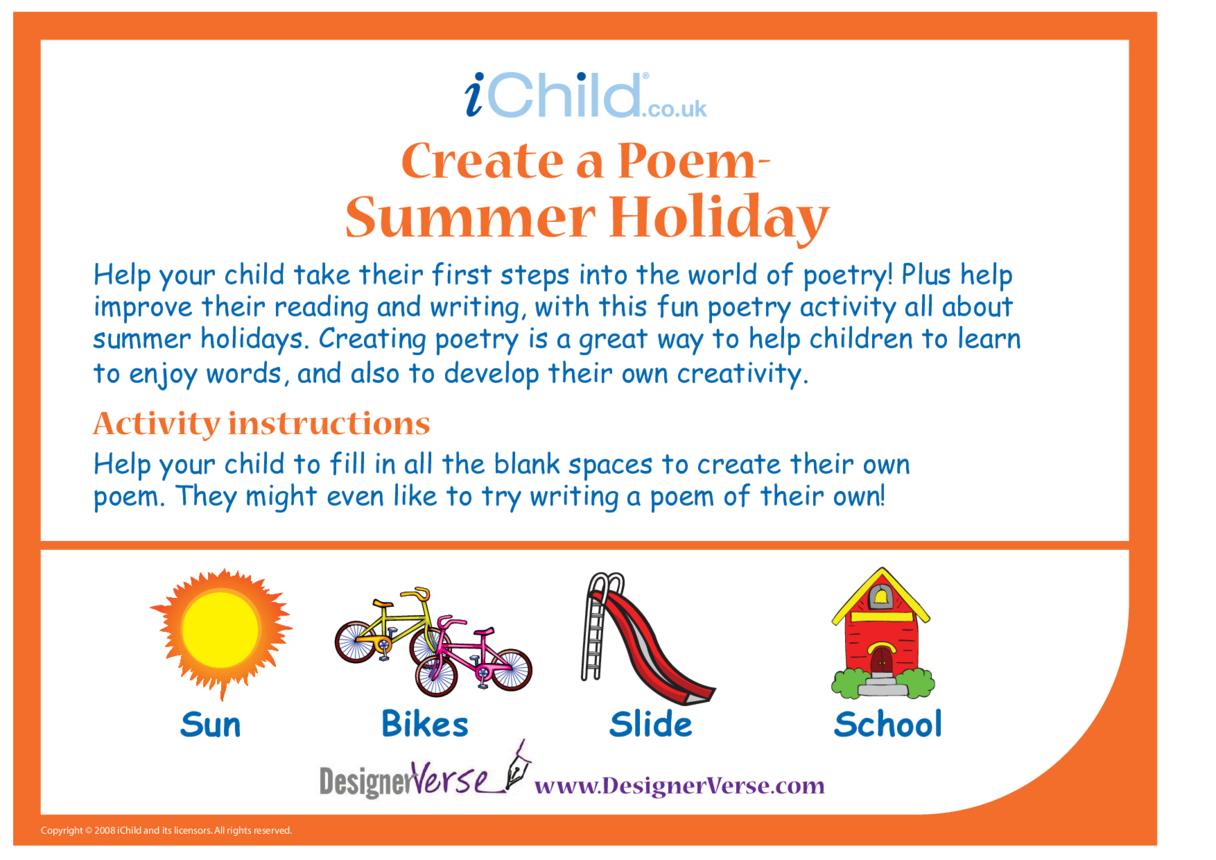 Poem - Summer Holiday