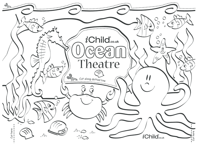 Thumbnail image for the Make your own ocean puppet theatre activity.