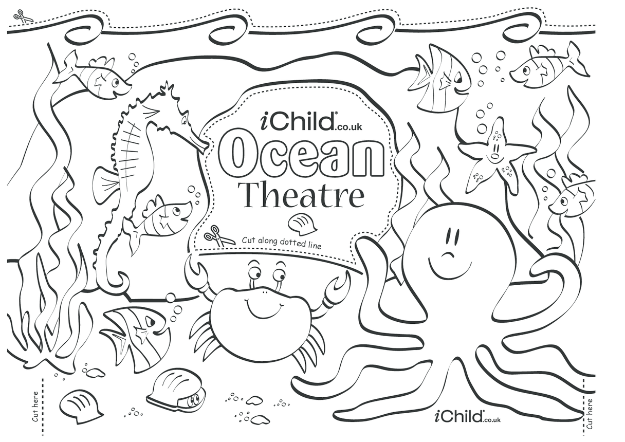 Make your own ocean puppet theatre