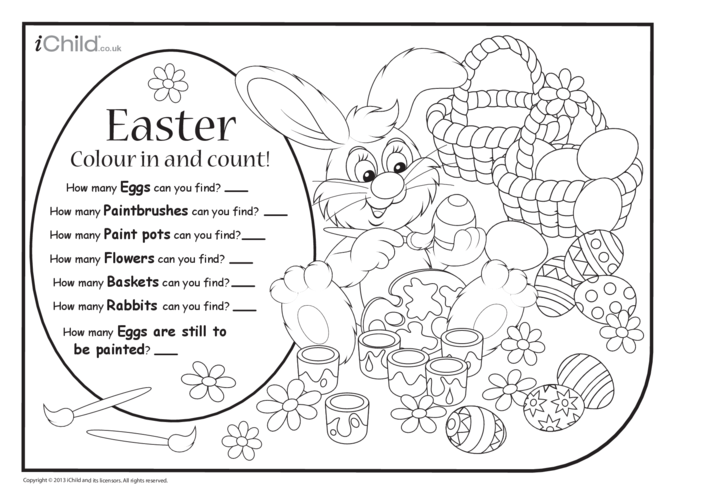 Thumbnail image for the Colour in & Count - Easter activity.
