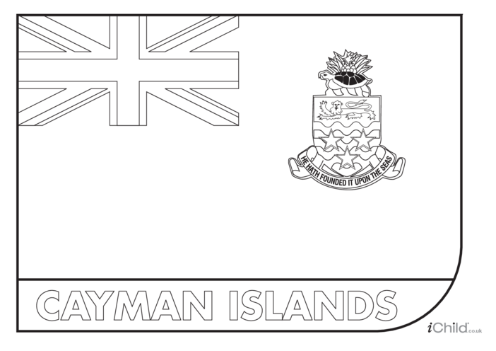 Thumbnail image for the Cayman Islands Flag Colouring in Picture (flag of the Cayman Islands) activity.