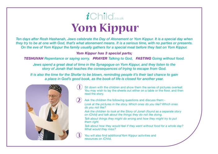 Thumbnail image for the Yom Kippur Religious Festival Story activity.