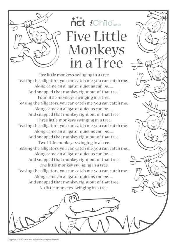 Cheeky Monkey Song Sheet 3