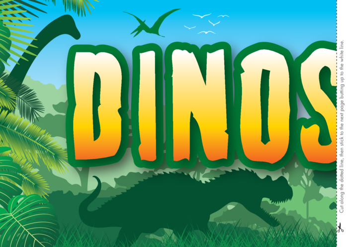 Thumbnail image for the Dinosaurs Wall Display Banner 2x A4 activity.