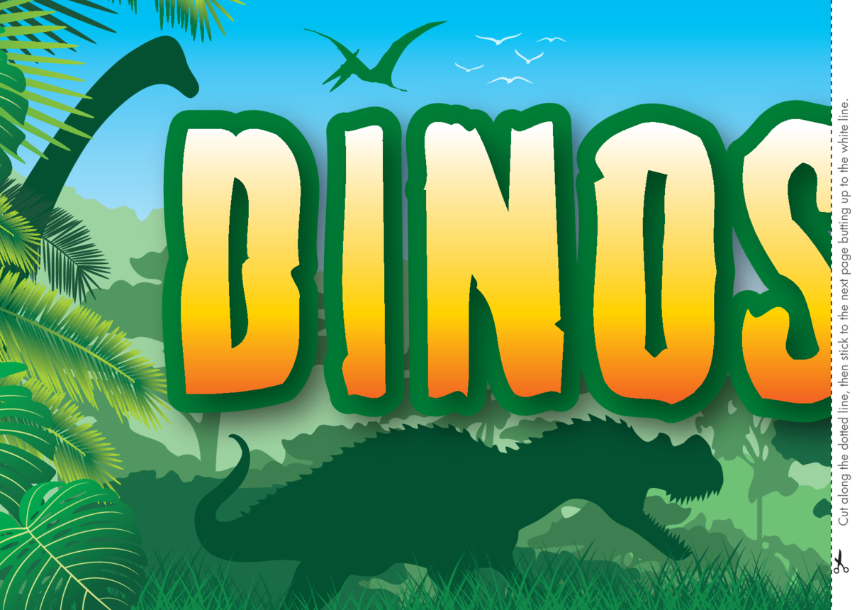 Dinosaurs Wall Display Banner 2x A4