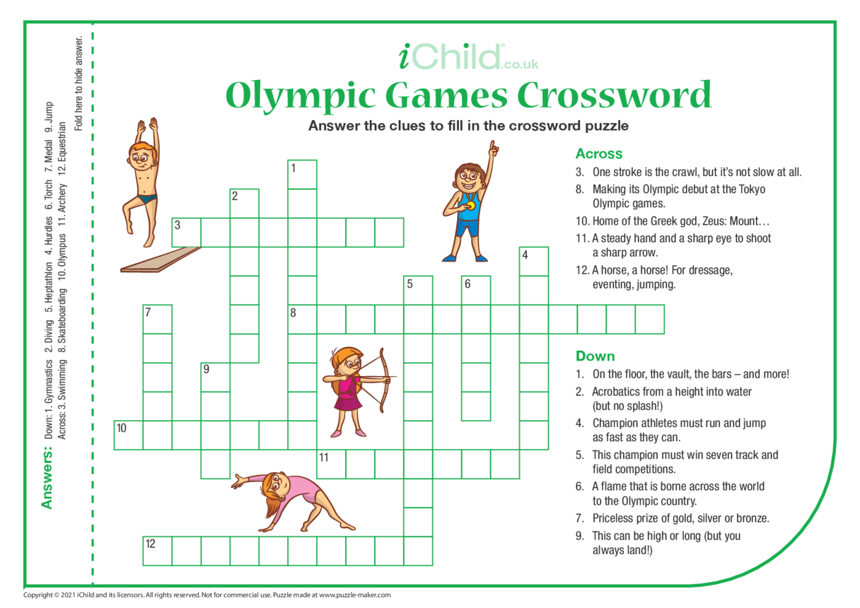 Olympic Games Crossword