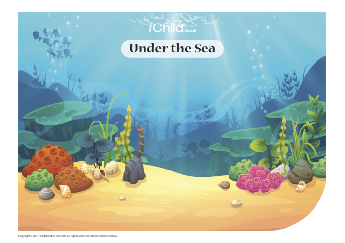 Thumbnail image for the Under the Sea Sticker Scene activity.