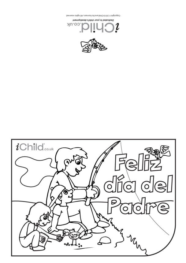 Father's Day Card in Spanish- Fishing