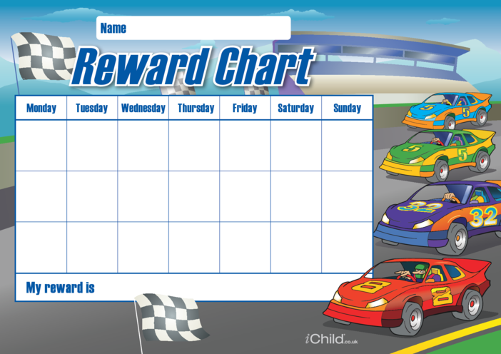 Thumbnail image for the Car Reward Chart activity.