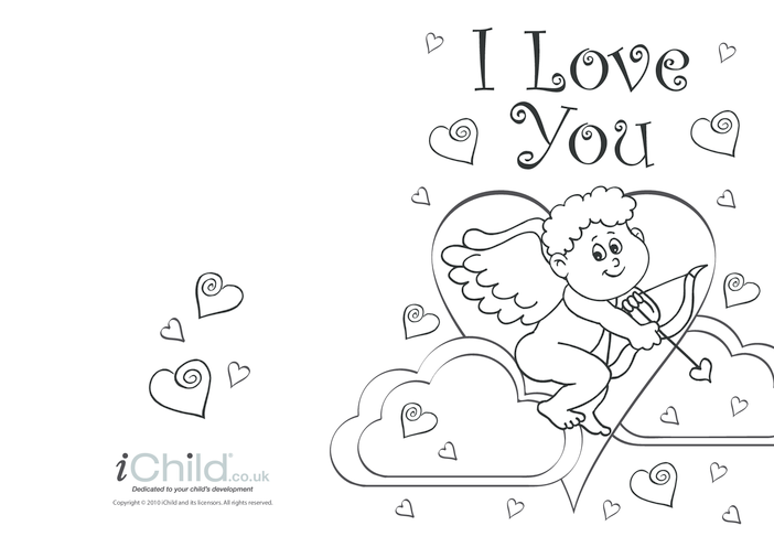 Thumbnail image for the Cupid Valentine's Day Card activity.