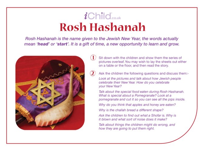 Thumbnail image for the Rosh Hashanah Religious Festival Story activity.