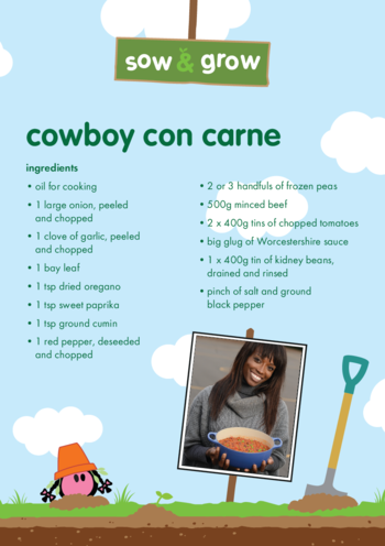 Thumbnail image for the innocent - Cowboy Con Carne Recipe activity.