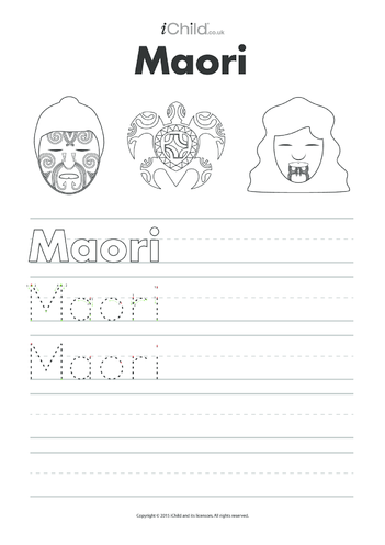 Thumbnail image for the Maori Handwriting Practice Sheet activity.