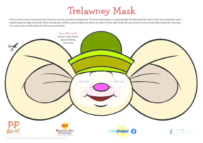 Thumbnail image for the Mice Pirate (Trelawney) Face Mask (Pip Ahoy!) activity.