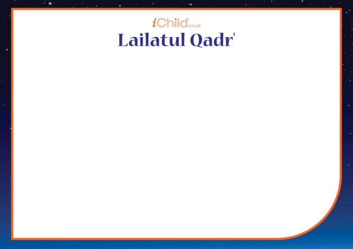 Thumbnail image for the Lailatul Qadr' Blank Drawing Template activity.