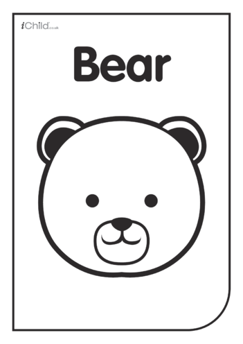 Thumbnail image for the Black & White Poster: Bear Face activity.