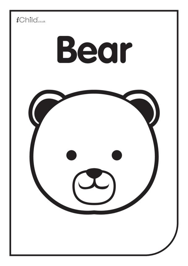 Black & White Poster: Bear Face