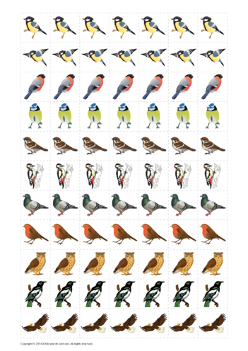 Thumbnail image for the Birds Reward Chart Sticker Sheet activity.