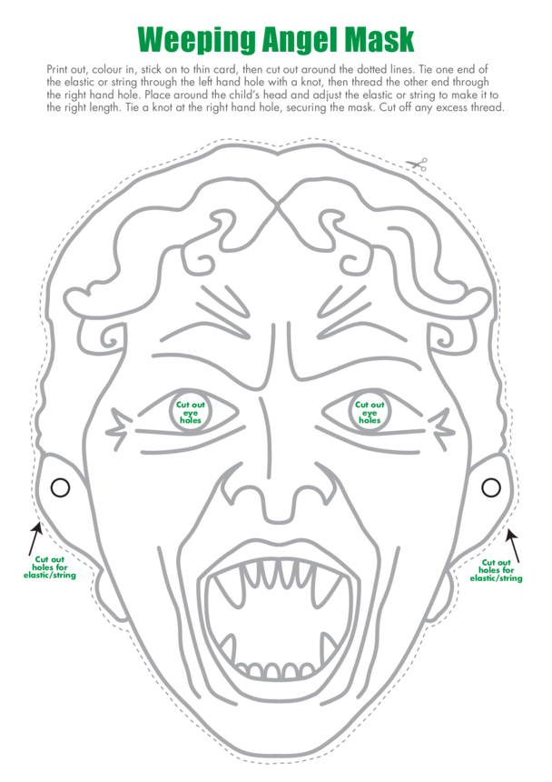 Primary 2) Weeping Angel Face Mask