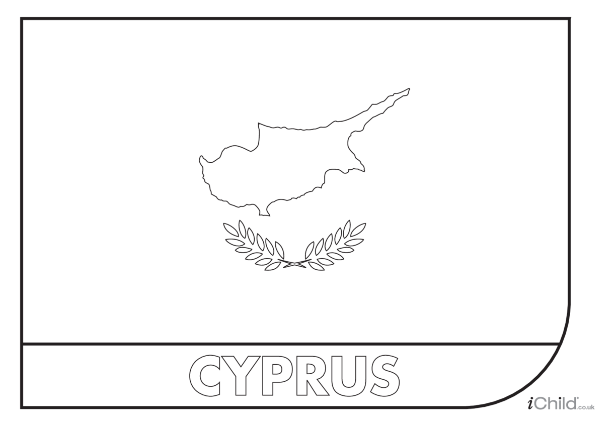 Cyprus Flag Colouring in Picture (flag of Cyprus)