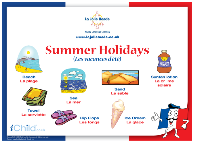 Thumbnail image for the Summer Holidays in French activity.