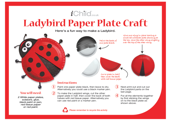 Thumbnail image for the Ladybird Paper Plate Craft activity.