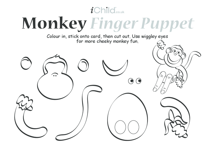 Thumbnail image for the Monkey Finger Puppet activity.