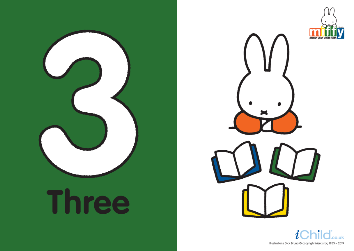 Number 3 with Miffy