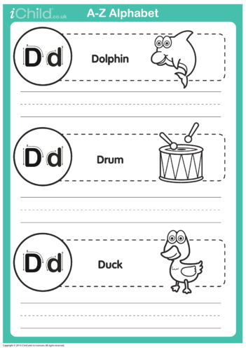 Thumbnail image for the D: Write the Letter D activity.
