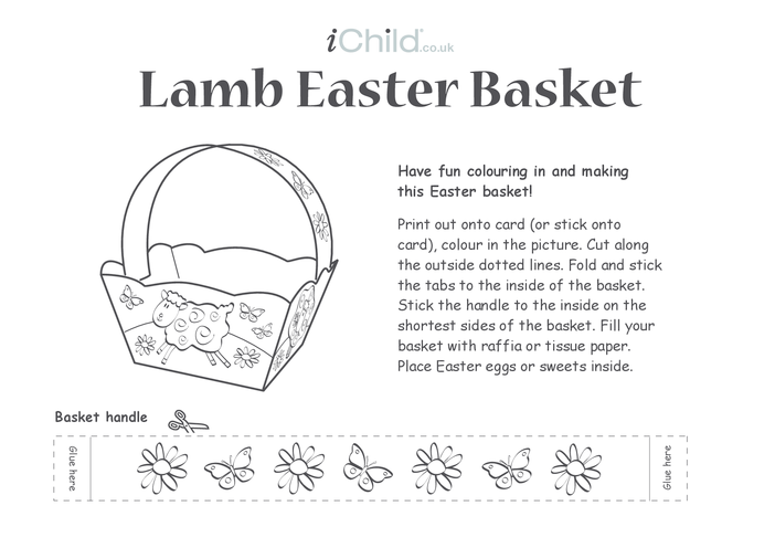 Thumbnail image for the Basket - Lamb Easter activity.