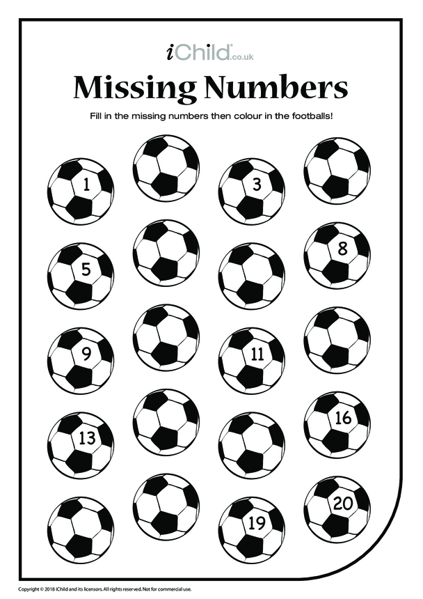 Missing Numbers - Footballs