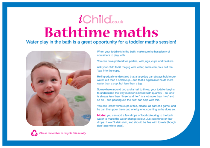 Thumbnail image for the Bath Time Maths activity.