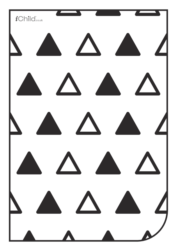 White & Black Poster: Triangle Pattern