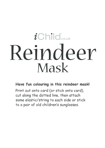 Thumbnail image for the Christmas Reindeer Mask activity.