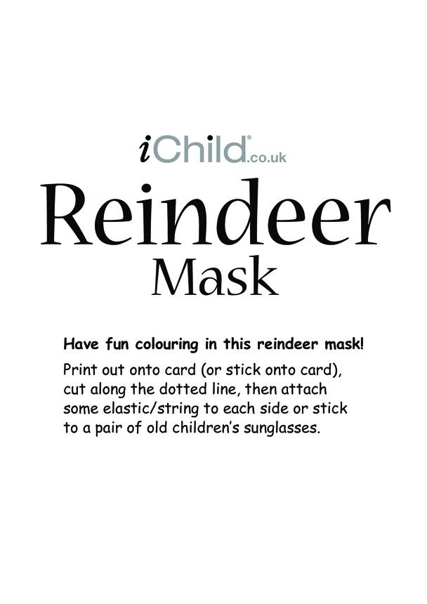 Christmas Reindeer Mask