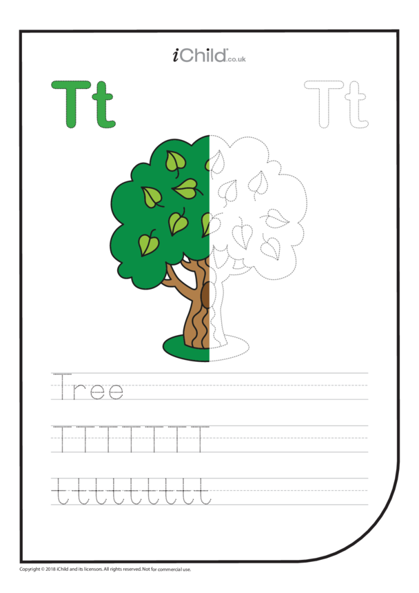 T: Write the Letter T for Tree