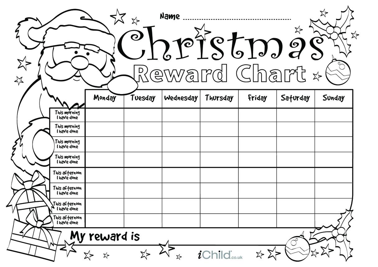 Christmas Reward Chart (black & white)