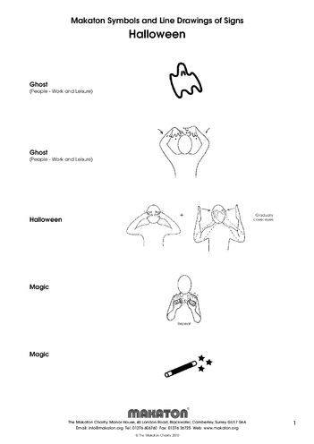 Thumbnail image for the Halloween Makaton Symbols & Signs activity.