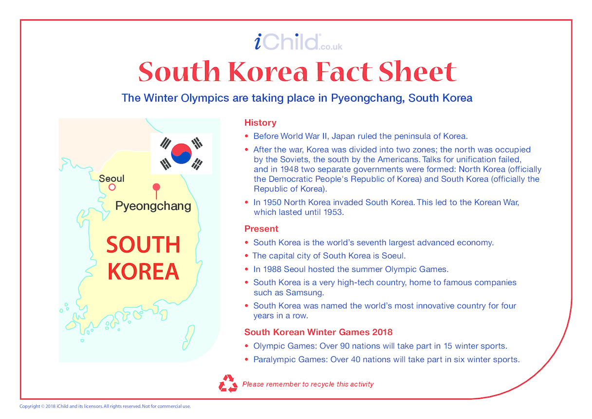 South Korea Fact Sheet