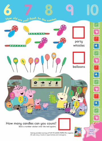 Thumbnail image for the Peppa Pig - How Many? activity.