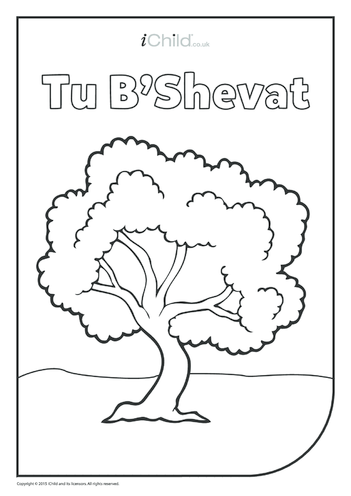 Thumbnail image for the Tu B'Shevat Colouring in Picture activity.
