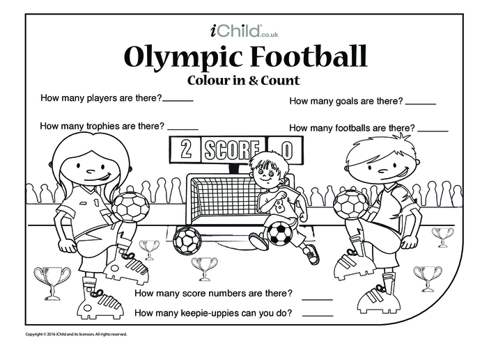 Thumbnail image for the Football Colour in & Count activity.