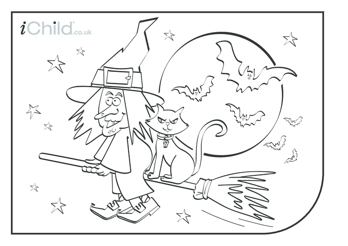 Thumbnail image for the Halloween Colouring in picture activity.