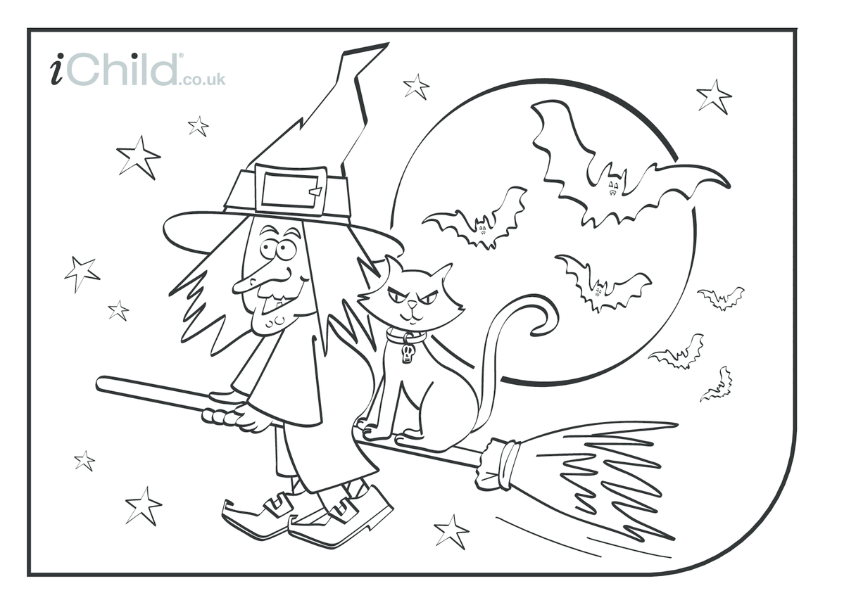 Halloween Colouring in picture