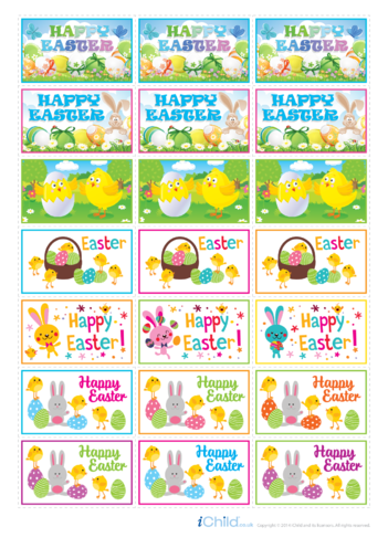Thumbnail image for the Easter Large Sticker Sheet activity.