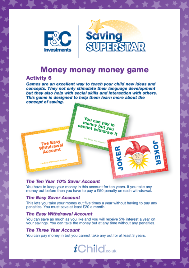 7-11 years (6) Money, money, money game