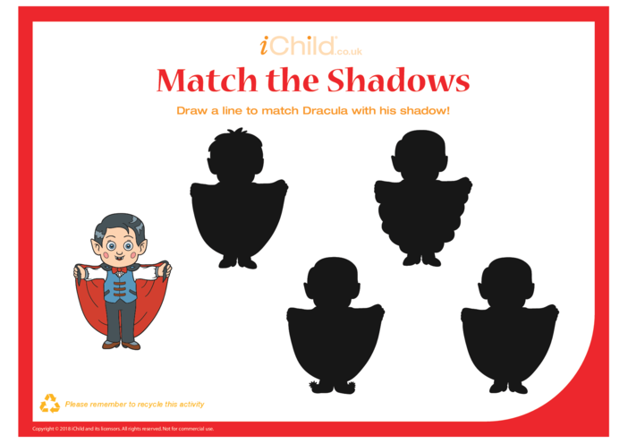 Thumbnail image for the Match the Shadows (Dracula) activity.