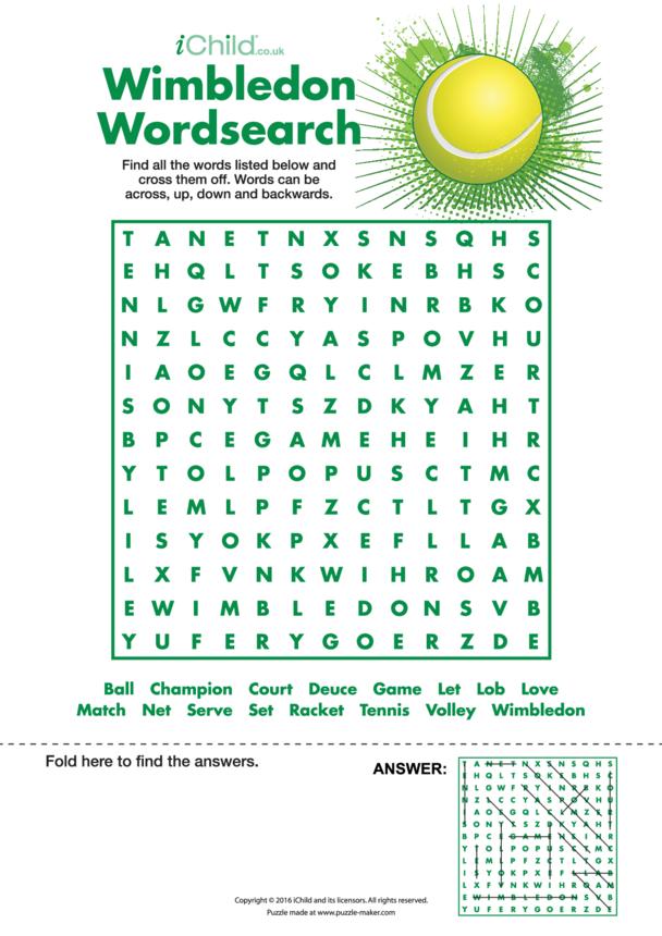Wimbledon Wordsearch
