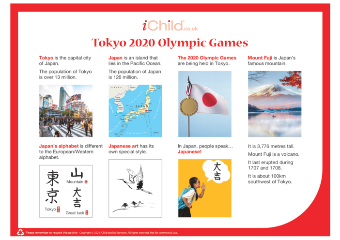 Thumbnail image for the Tokyo 2020 Olympic Games - Fact Sheet activity.