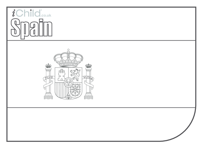 Thumbnail image for the Spanish Flag Colouring in (flag of Spain) activity.